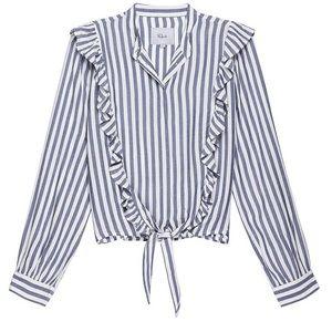 Rails Piper Striped Ruffle Shirt